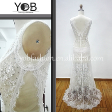 Wholesale gorgeous dazzling beaded white lace evening dresses wedding party dresses