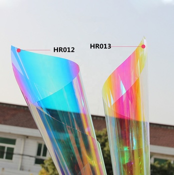60inchx100ft dichroic decorative film used in vertical applications on surface of interior glass and outside glass wall
