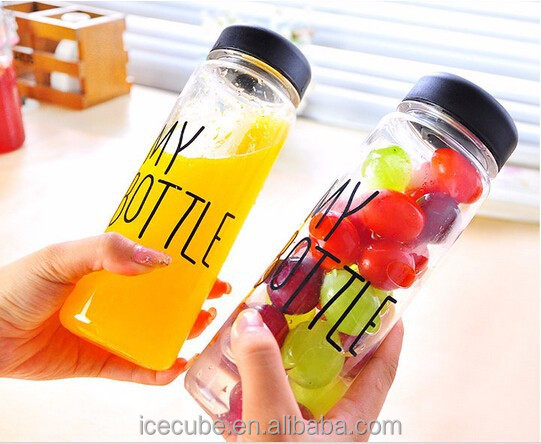 2015 Korea Hot Sale Plastic & Tritan 500ml Custom My Bottle With Bags