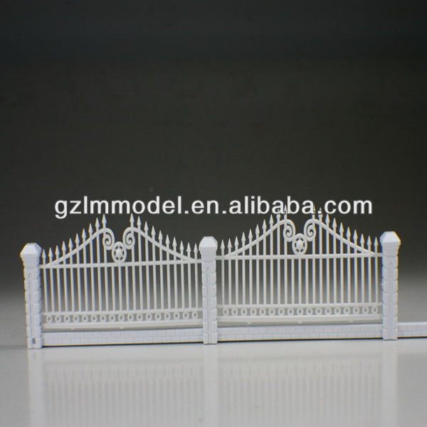 plastic scale model railing balcony stair outdoor -02 1:100 3.8cm