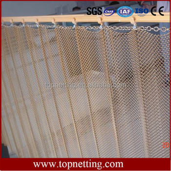 Metal Architectural Cascade Coil Mesh Curtain Drapery Shower