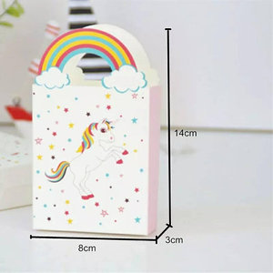 Customized China Manufacture Supplier Unicorn Rainbow Paper Box for Theme Party