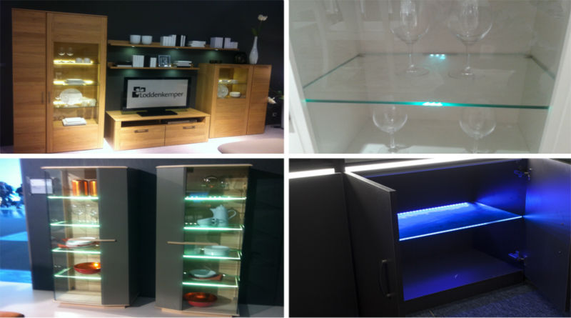 Kitchen Cabinet Showcase Display 12v Led Lights Glass Shelf Led ...