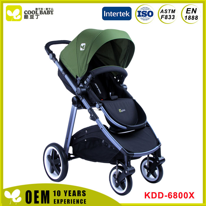 Novel portable classic four wheels baby jogging strolley