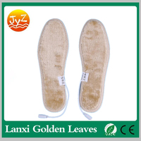 USB Electrically Heated Shoes Insoles Lambswool Insoles Keep Feet Warm For Men Women Winter