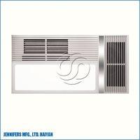 PTC and infrared heating warm air heater, heat/cooling/fan/light 4-in-1unit