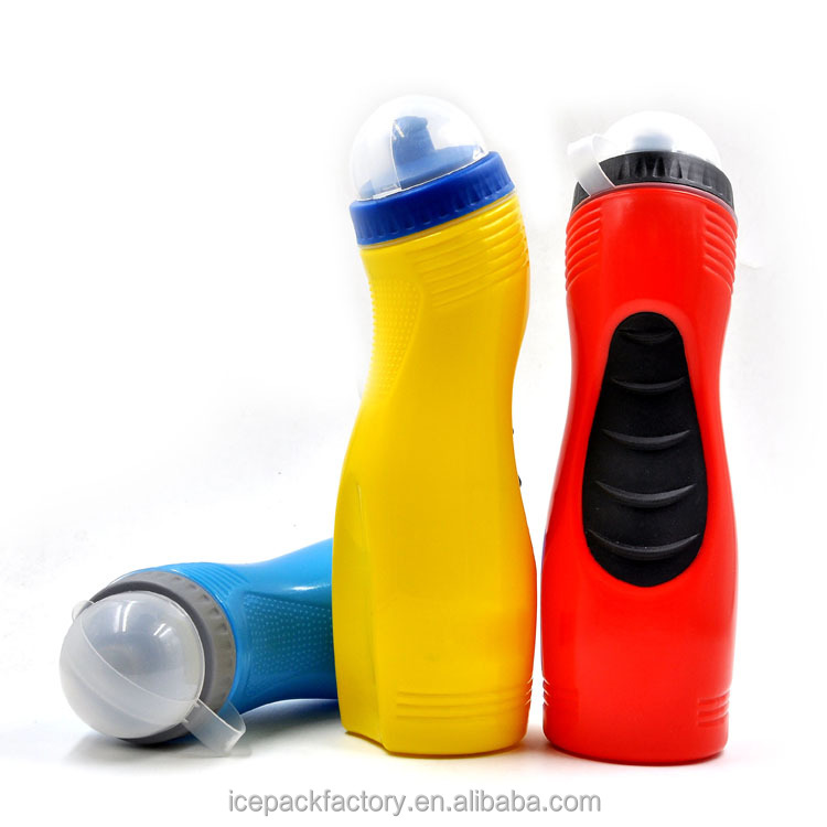 Private label fitness products promotional sports drink bottles, BPA free PE with Easy Grip