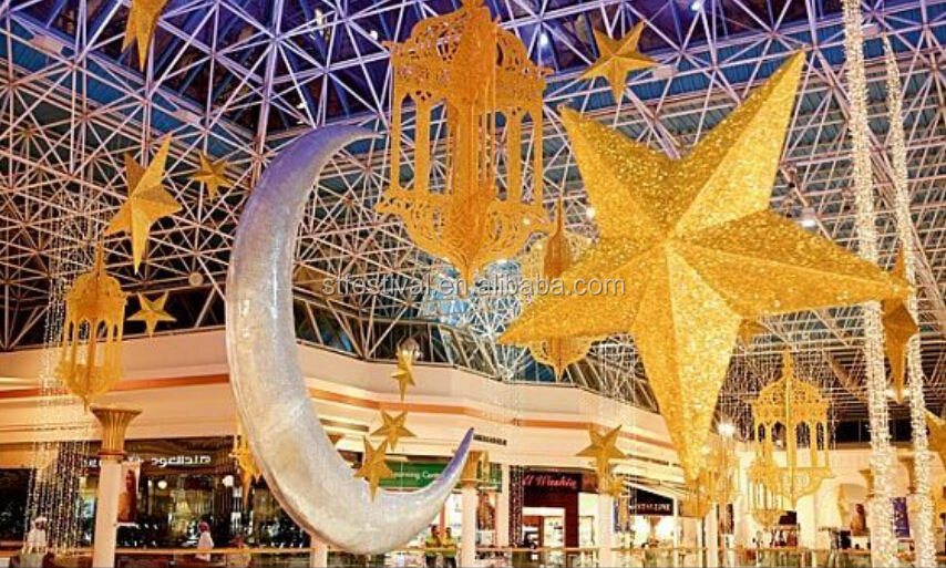 Ceiling Hanging Moon And Star Ramadan Mall Decoration