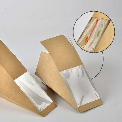 Custom prining food corrugated takeaway packaging container sandwich box