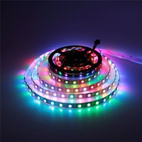 WS2812B Individually Addressable LED Strip Light 5m 300 Pixels 5050 RGB SMD Non-waterproof Black PCB DC 5V