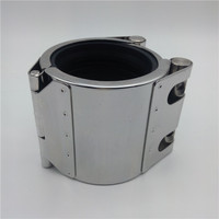 RCH-L hdpe fittings/open kind heater water pipeline fitting/buy direct from china factory stainless steel pipe repair clamp
