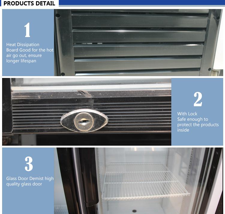 High Quality Refrigeration Equipment 280L Single Door  Fancooling Beverage Showcase
