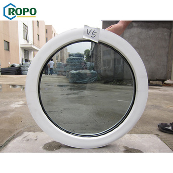 AWA Sale PVC Frame Fix Round Tempered Glass Window Manufacture