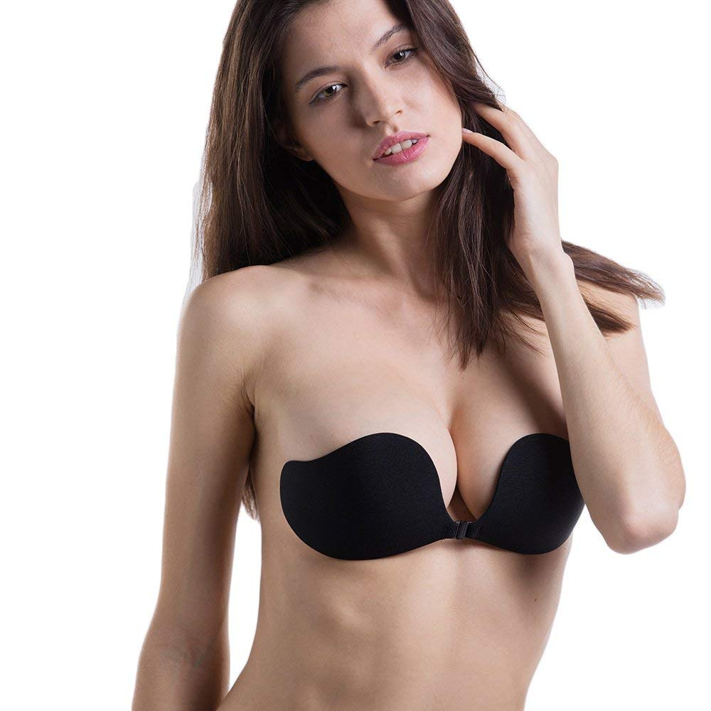 40503c38ea Get Quotations · PANCY Silicone Bra Stick On Self Adhesive Strapless Push up  Sexy Bras for Bikini Wedding Dress