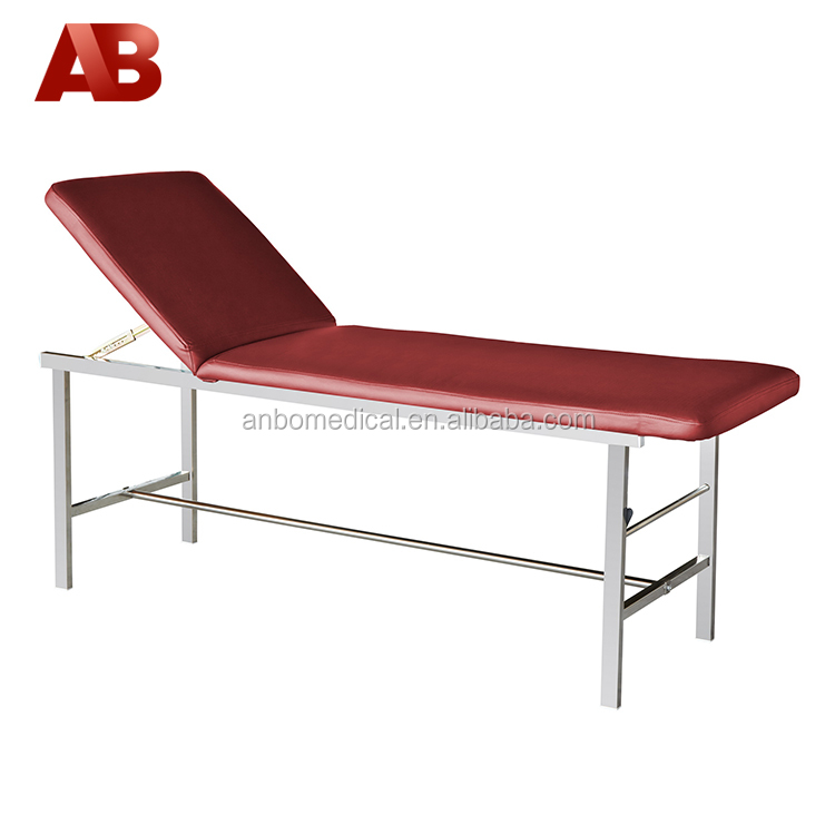 hospital examination table clinic tables with adjustable backrest