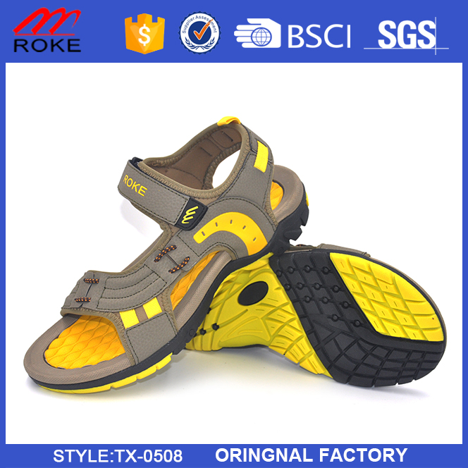 New Super Soft EVA cushioned footbed Classic style mens beach sandal shoes