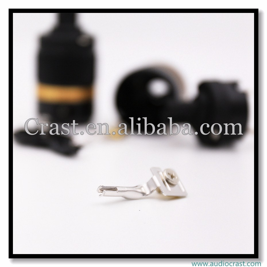 HI Fi Rhodium Plated Audiograde C7 black Power Connector Figure 8 Female Power Connector