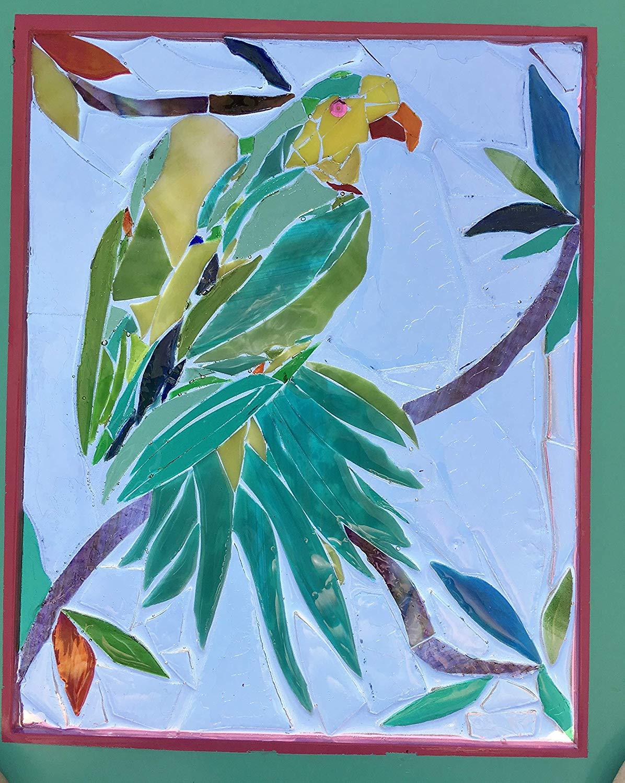 Superb Parrot Stained Glass Window Art Sun Catcher