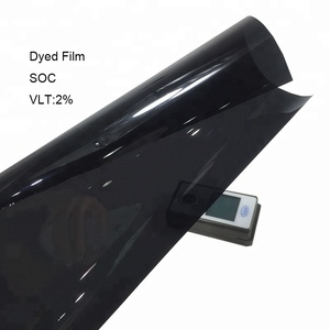 Charcoal Black Colored 2%VLT Car Window Solar Tint Film Dyed Film