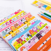 Groothandel Promotionele Kawaii Briefpapier Memo Pads Bladwijzers Cartoon Leuke Dier Sticky Notes Schoolbenodigdheden Papieren <span class=keywords><strong>Stickers</strong></span>