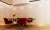 DBDMC plant fiber material cheap price wall decoration 3D wall panel RATTAN