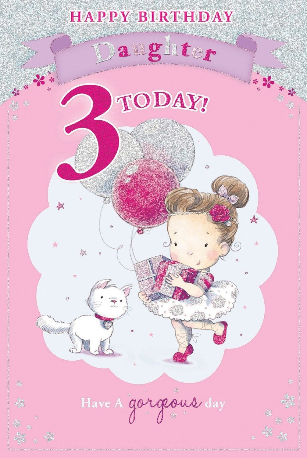 Candy Club Daughters 3Rd Birthday Card