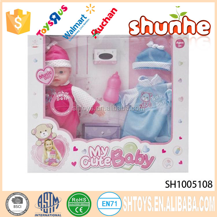 Popular item 14 inch musical baby doll