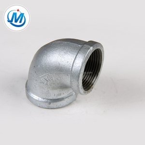 gas line NPT standard malleable iron pipe fitting duct elbow
