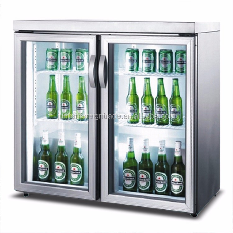 Mini pantalla refrigerador 2 puertas mostrador enfriador - Nevera para cerveza ...