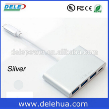 HOt sales!! 100% Tested Reversible USB 3.1 Type C To USB 3.0 4 ports Hub for Macbook