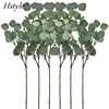 Artificial Silver Dollar Eucalyptus Leaf Spray In Green Tall Artificial Greenery Holiday Greens Christmas Greenery FZH306