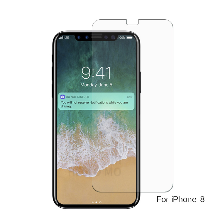 Factory price anti-Fingerprint 2.5d tempered glass for iphone 8 screen protector film