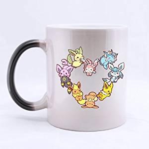 Popular Design Custom Office Cup - Japan Anime Cartoon Poket Monster Eevee Heart Custom Morphing Coffee Mug Tea Cup 11 OZ Office Home Cup