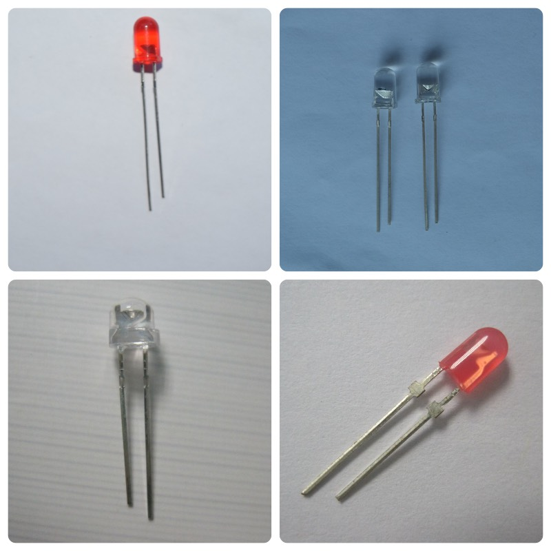flat top straw hat oval round 8mm 3mm 5mm red led diode