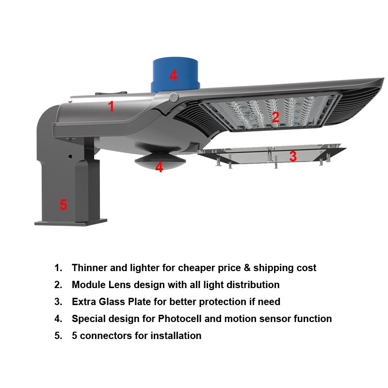 ホット販売駐車場街路照明 50 ワット 100 ワット 180 ワット 300 ワット Led 街路照明器具