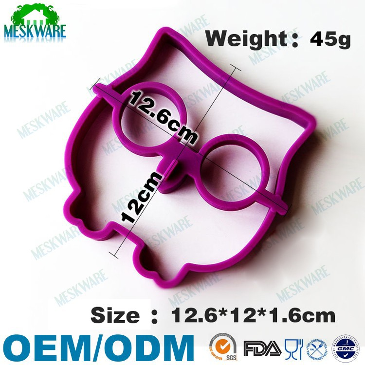 New design animal shape rubber ring ee, silicone fried egg molds