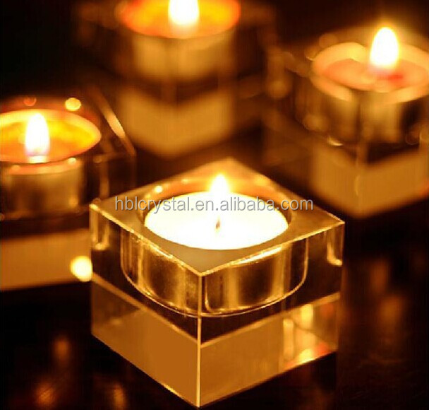 Fancy good quality wedding crystal candle holder for decoration