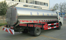 Dongfeng stainless steel fresh milk insulated transport tank