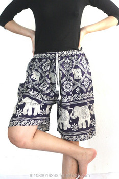 76fd0349ffd5 short elephant Pants shorts women high waist pants elephant design jumpsuit  uk Yoga pants