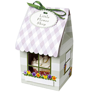 custom paper packaging cute favor wedding cupcake box with window