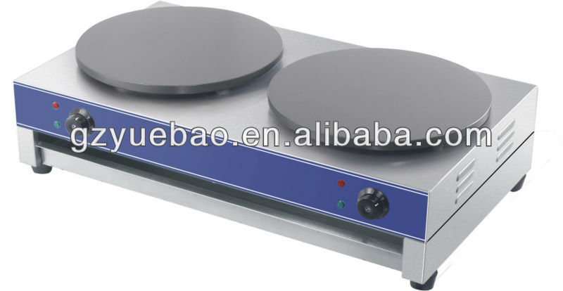 crepe maker stainless steel 400mm double electric crepe maker