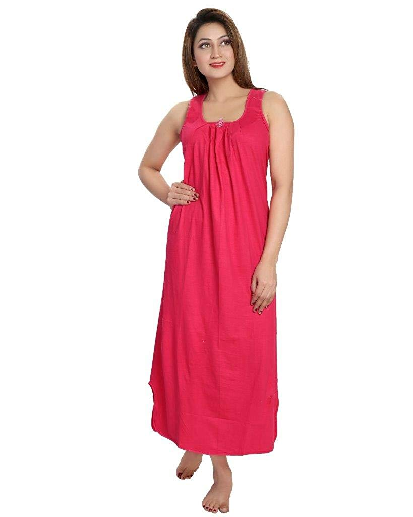 35c040acb96 Get Quotations · Be You Raspberry color Hoisery Cotton Women Night Gown  Slips