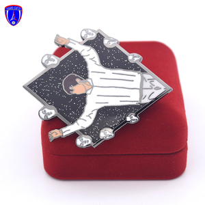 US Custom Singularity Badges Label Pins Wholesale Free Sample Design Logo Metal Glitter Hard Enamel Pins For Souvenir