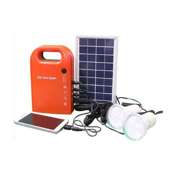 Portable complete solar system kit led lamp charged by solar panel for rural lighting