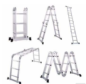 Big locking multi-Purpose aluminium folding ladder with platform