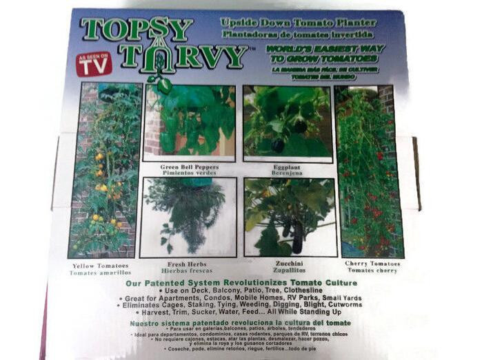 Home Yard Organic Garden Tomato Planter Topsy Turvy Upside Down As Seen On  TV Topsy