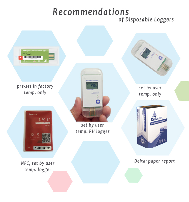 Apresys Smartphone NFC Temp temperature Data logger NFC-T