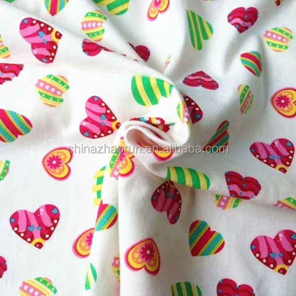 Wholesale printed 100 cotton single cotton jersey knitted for Wholesale baby fabric