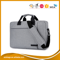 Cool gray colour Chinese Manufacturer 17 inch travel laptop briefcase messenger bag