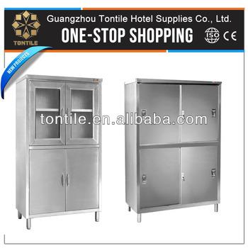 Hotel Restaurant Kitchen Equipments Stainless Steel Upright Storage Cabinet
